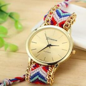 Ladies Braided Bracelet Watch In Pakistan