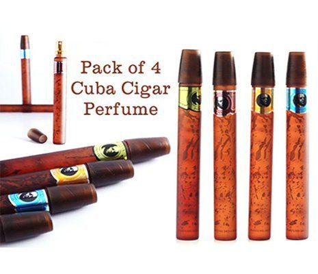 Pack of 4 Cuba Cigar Perfumes in Pakistan