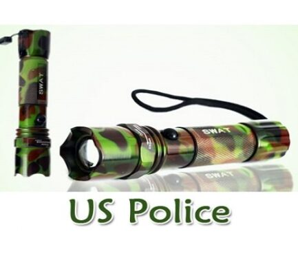 US Police LED Torch Green In Pakistan