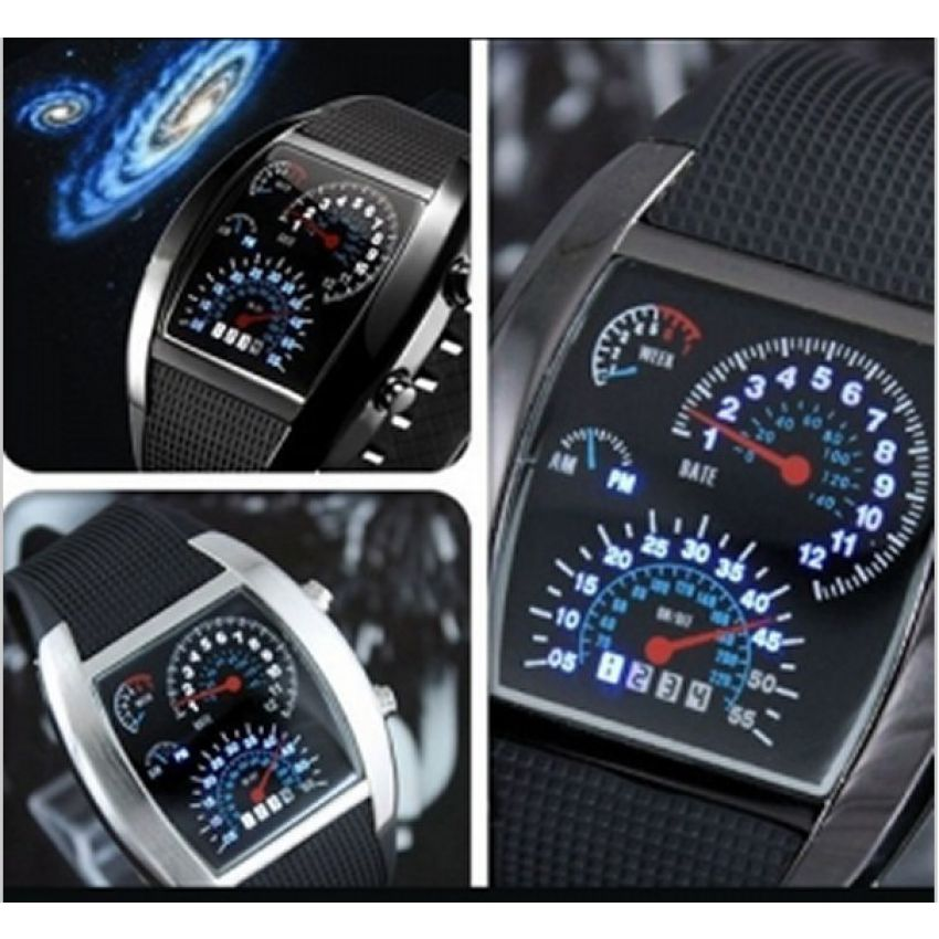 Binary Speedometer LED Watch