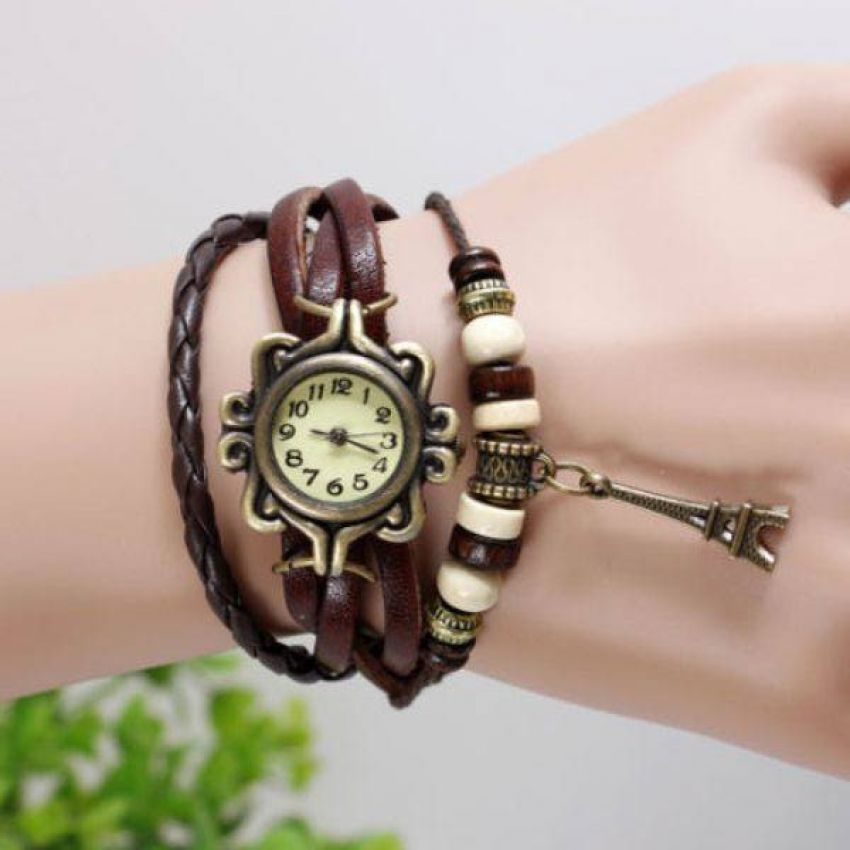 Pack of 3 Leather Bracelet Watches