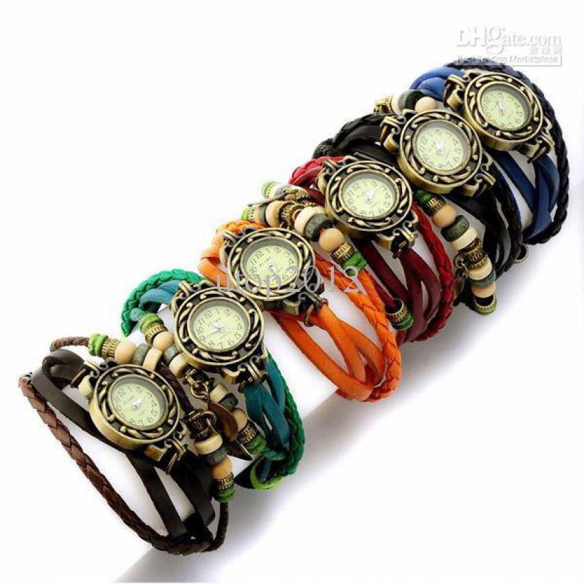 Pack of 3 Leather Bracelet Watches In Pakistan