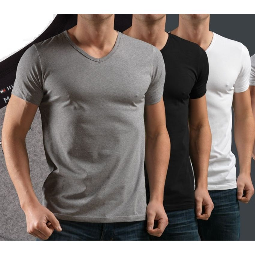 Pack of 3 V-Neck Half Sleeves T-Shirts In Pakistan