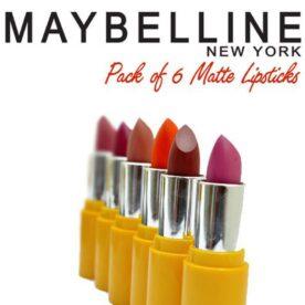 Pack of 6 Maybelline Lipsticks pakistan