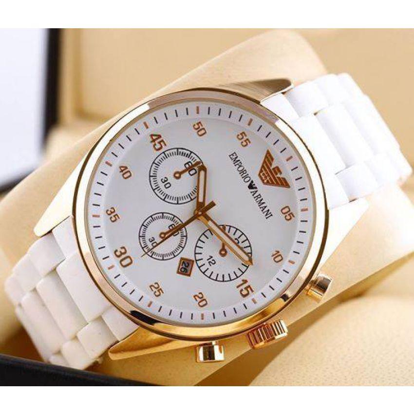 Buy Emporio Armani White Watch In Pakistan Getnow Pk