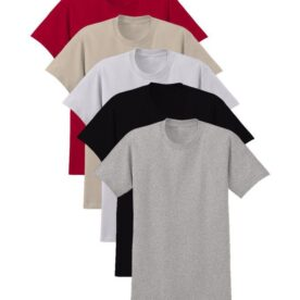 Pack of 5 Plain Round Neck T-Shirts In Pakistan