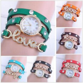 Pack of 2 love leather bracelet watches In Pakistan