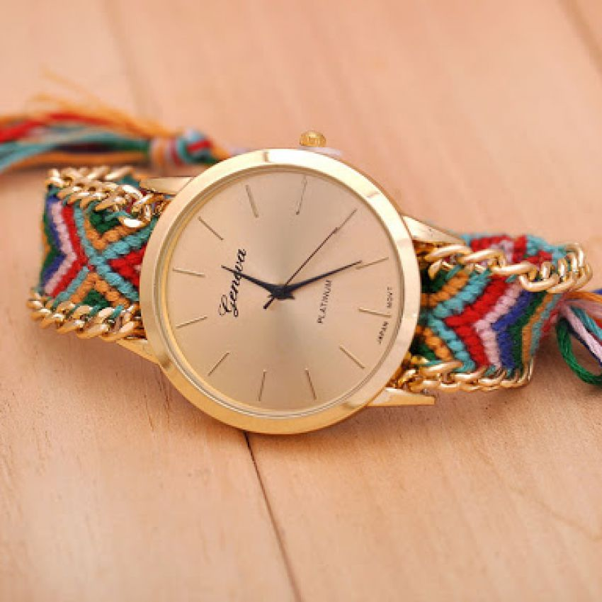 women watch watches cloth in shipping on s quartz free flower reloj beautiful fabric brand from floral band dress item loveskywathes