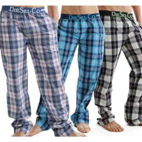 Pack of 3 Checkered Trousers Pajamas In Pakistan