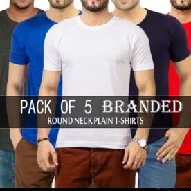 Pack of 5 Branded Round Neck T-shirts In Pakistan