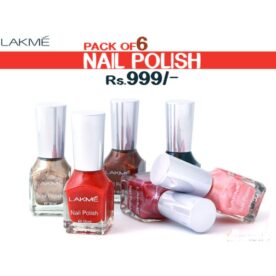 Pack of 6 Lakme Nail Polish & 1 Thinner in Pakistan