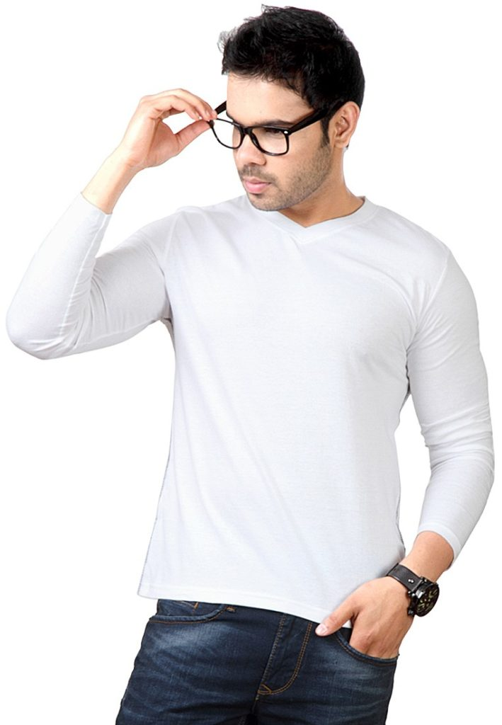 Buy 5 full sleeve v neck t shirts in pakistan for Mens full sleeve t shirts online