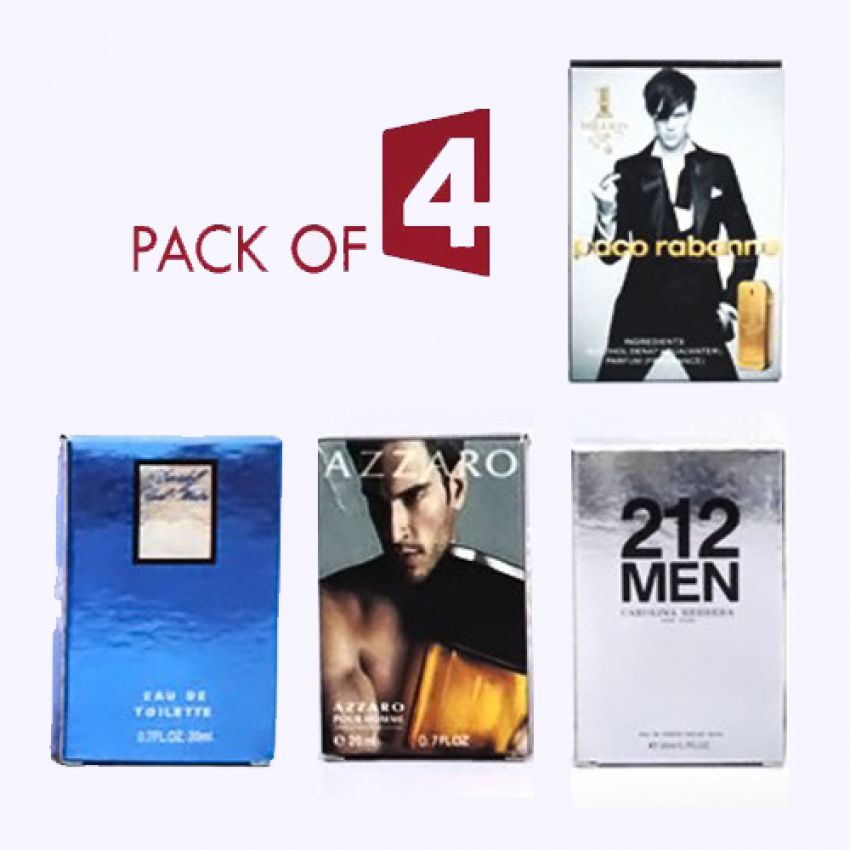 Pack Of 4 Pocket Perfumes in Pakistan