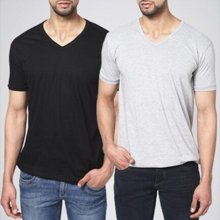 Pack Of 2 V-Neck T-Shirts. PK-45D in Pakistan