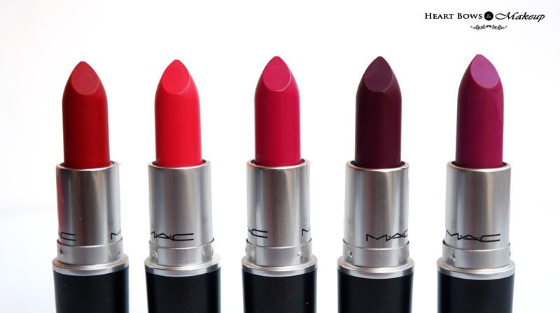 Pack of 6 Mac Lipsticks