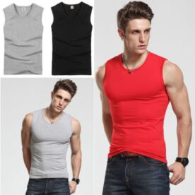 Pack of 3 Gym Sleeveless T-shirts in Pakistan