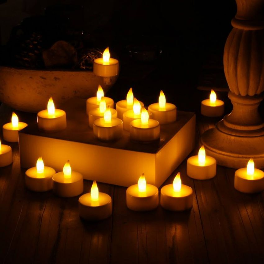 Buy Pack Of 10 LED Tealight Candles In Pakistan