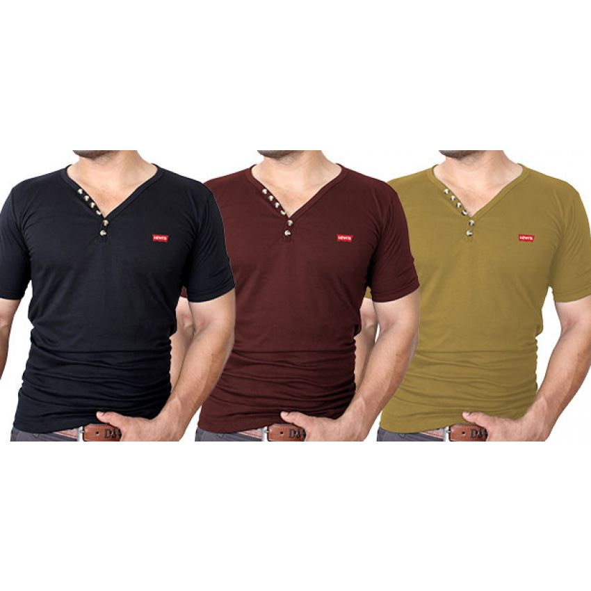 Pack of 3 Levi's V-Neck T-Shirts In Pakistan