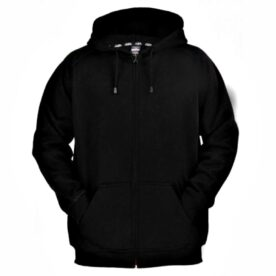 Plain Black Zipper Hoodie In Pakistan