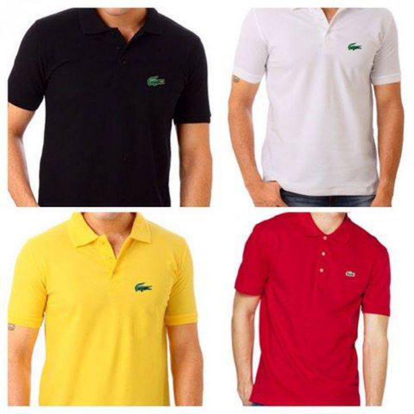 Pack of 4 Lacoste Polo T-shirts In Pakistan