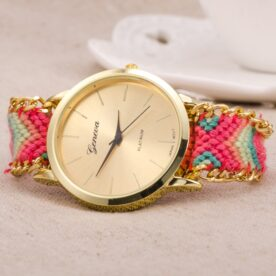 Ladies Braided Bracelet Fashion Watch