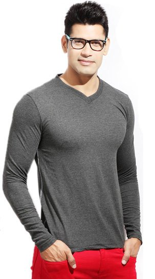 Pack Of 4 Long Sleeve V-Neck T-Shirts for Men Price in Pakistan