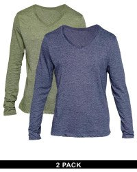 Pack Of 2 Long Sleeve V-Neck T - Shirts In Pakistan