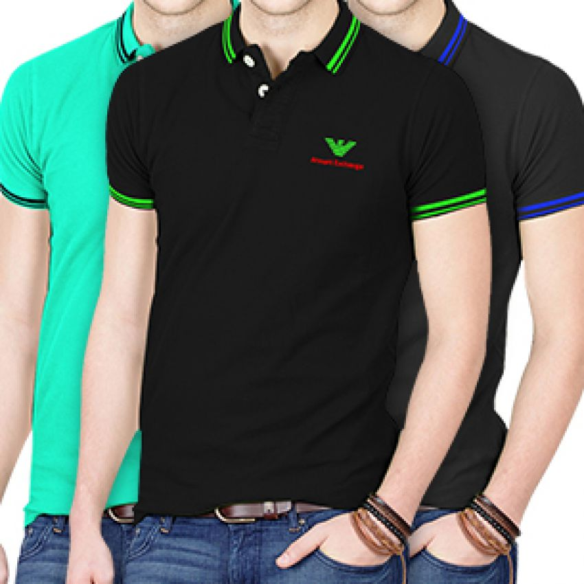 Armani t Shirt Pack Pack of 3 Armani Exchange Polo