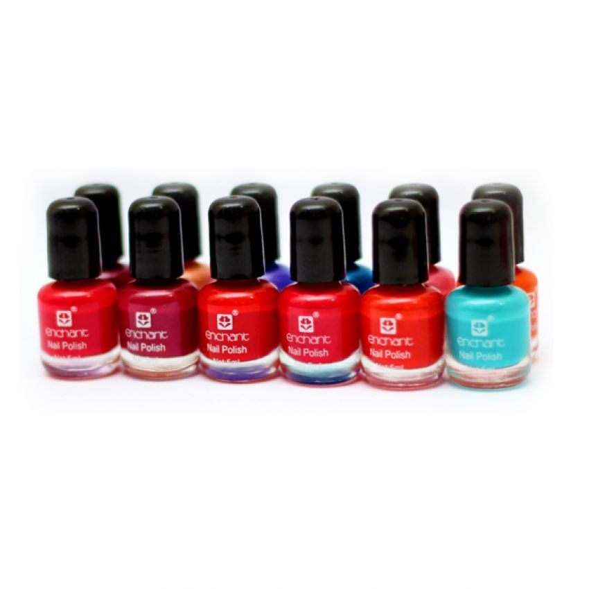 Pack of 12 Enchant Peel Off Nail Paints In Pakistan