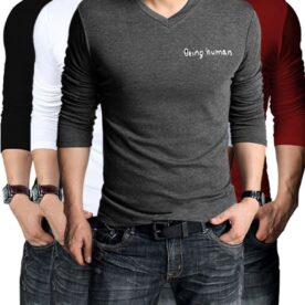 Pack of 4 Being Human V-Neck T-shirts In Pakistan