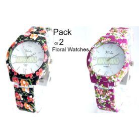 Pack of 2 Floral Ladies Watches In Pakistan