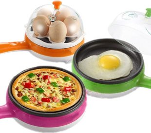 Multifunctional Mini Electric Frying Pan With Egg Steamer In Pakistan