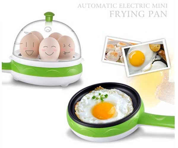 Multifunctional Mini Electric Frying Pan With Egg Steamer