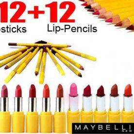 Pack Of 24 Maybelline Lipsticks Lip Pencils In Pakistan