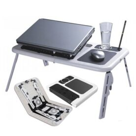 Laptop E-Table Folding 2 Cooling Fans & Mouse Pad