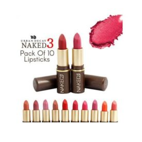Pack of 10 Naked3 Lipsticks in Pakistan