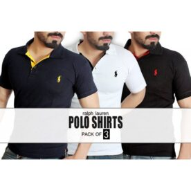 3 Ralph Lauren Polo T-Shirts Pack in Pakistan