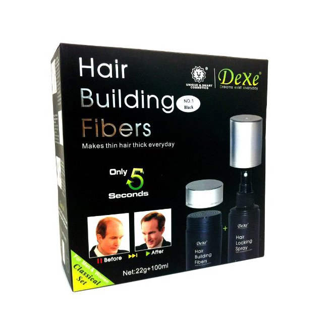 Dexe Hair Building Fiber + Hair Locking Spray in Pakistan