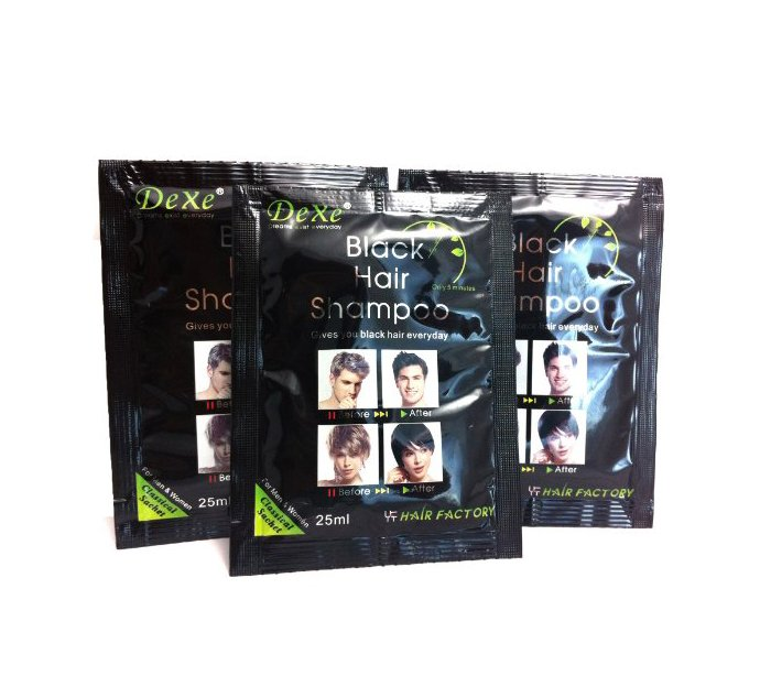 Pack of 10 Dexe Black Hair Shampoos in Pakistan