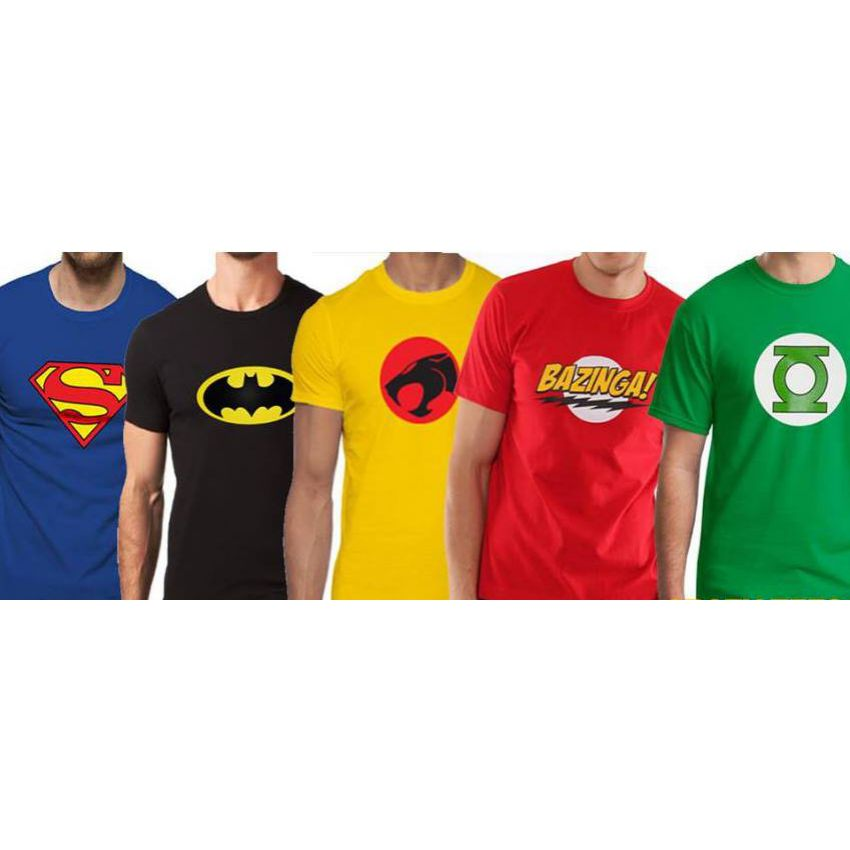 Superhero t shirts are here! Show your love for the Dark Knight with our Batman shirt featuring the Bat symbol and comic book graphic. Looking for something a little more super? Grab a Superman or Wonder Woman shirt where she is lassoing a shark. If you want someone a .