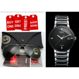 Buy 1 Get 1 Free! Rayban Rb 3025 Withrado Centrix Jubile Silver