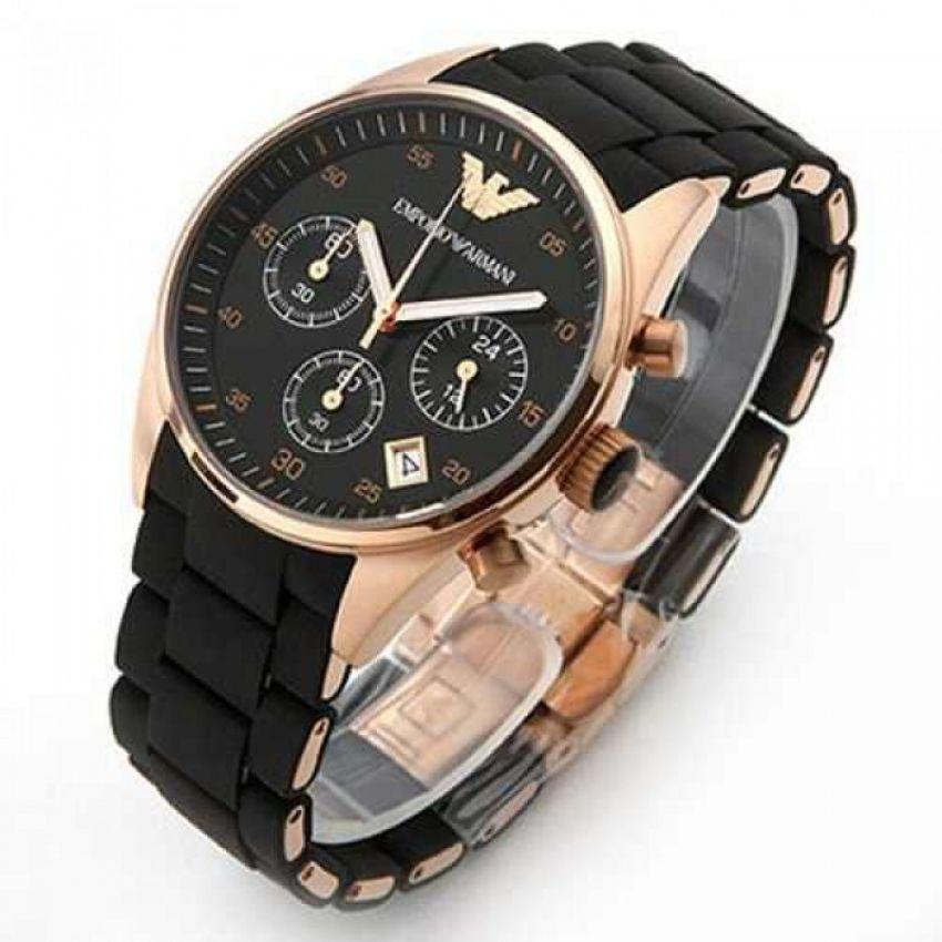 low priced 5710c b89f3 Emporio Armani Black Watch With Free Watch Box