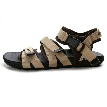 new style 02baa 9b378 Nike Brown and Cream Sandals for Men