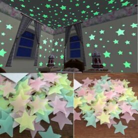 Pack of 100 PCS Glow In The Dark Plastic Fluorescent Stars in Pakistan