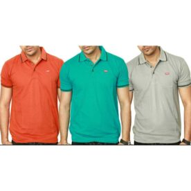 Pack of 3 Levis Polo Collar T-Shirts For Men