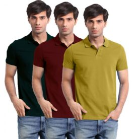 Pack of 3 Plain Polo Shirts For Him