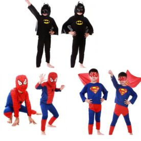Pack of 3 Spiderman, Superman & Batman Costume Dress In Pakistan