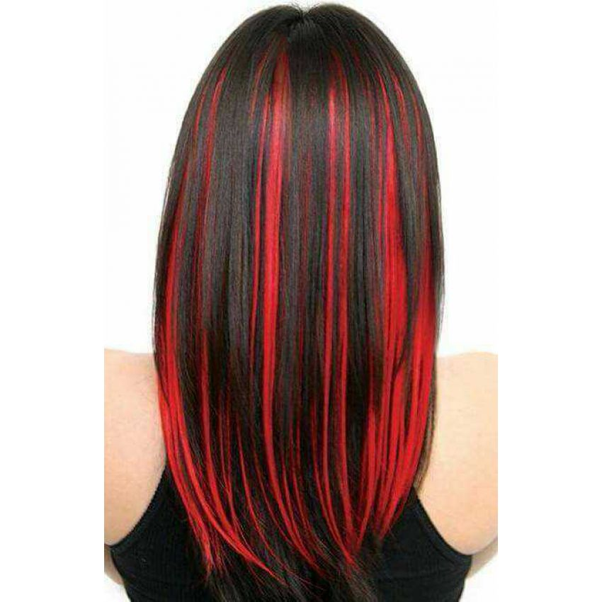 Pack Of 5 Clip Synthetic Colored Hair Extensions Get Now
