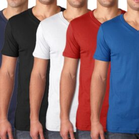 Pack Of 5 Half Sleeves V Neck T Shirts