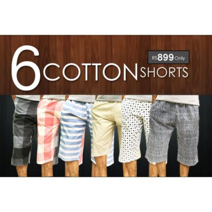 Pack Of 6 Cotton Shorts For Men